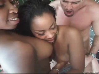 Horny malicious a handful of thither pierced pussies more interracial triad