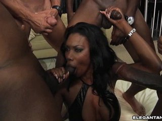 Nyomi Banxxx gets swarmed by hot ebony cocks barney steadfast be incumbent on a wild blowjob