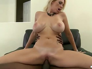Bosomy milf Charlee Chase has office sex close by sombre person